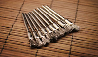 "15x 5mm Stainless Steel Wire Brush Cup 1/8"" Shank Fit Rotary Tools Die Grinder"
