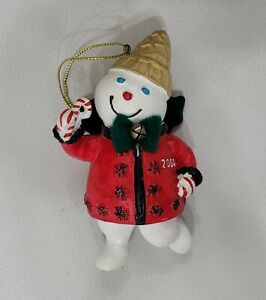 2004 Mr Bingle Snowman Resin Christmas Tree Ornament New Orleans Holiday Icon