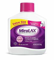 Miralax Laxative Powder 45 Doses Osmotic Laxative 26.9 Ounce Polyethylene Glycol