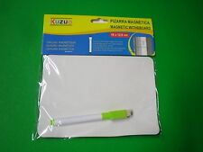 "7"" X 5"" Magnetic Whiteboard with Marker for Locker Refrigerator memo message A4"