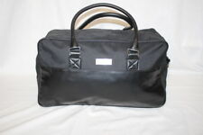 ERMENEGILDO ZEGNA Parfum Black Faux Leather Duffle/Weekend/Gym Bag-B92