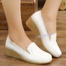 Hospital Women's Faux Leather Wedge Comfort Nurse Breathable Work Nursing Shoes