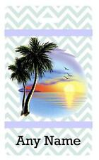 Personalized BEACH SUNSET PALM TREES BAG TAG For Luggage Bags 2 Sides Printed