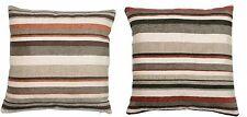 Chenille Striped Contemporary Decorative Cushions