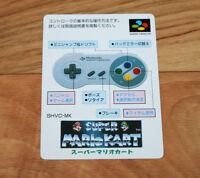 Super Mario Kart SNES Super Famicom Promo Card Old Vintage Japanese Rare