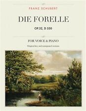 Die Forelle Op32 D 550 Lied for Medium High Low Voices by Schubert Franz