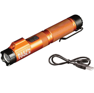 Klein Rechargeable Pen Style Focus Flashlight w/ Laser and Magnet