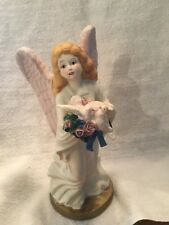 Porcelain Angel with Polyresin Doves