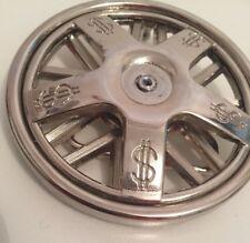 Round Metal Belt Buckle Dollar Sign On A Wheel