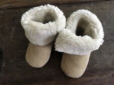 Schuhe Baby Babyschuhe Baby Kinder Schuhe Beige Creme Tier 3 6 M Schaf Schafsfell Fell Echt