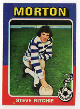 Topps like A&BC Scottish Football Card 1975 Blue Back #46 Steve Ritchie Morton