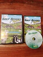 PC Game - Golf Resort Tycoon (2001)- CD-ROM - Complete !!