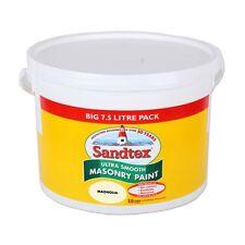 Sandtex Muratura Magnolia Pittura 7.5L Ultra Liscia Impermeabile/Traspirante