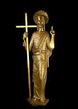 Haut relief d'un grand Christ en bronze c1950 H80cm Religious Sculpture of Jesus