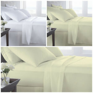 300 TC FITTED SHEET 100% EGYPTIAN COTTON SINGLE DOUBLE SUPER KING SIZE 25cm DEEP