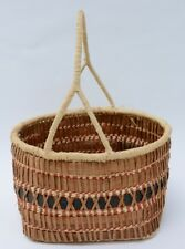 Large Makah Indian Basket  - Wabbit Basket Cedar Bark, Bear Grass, Raffia