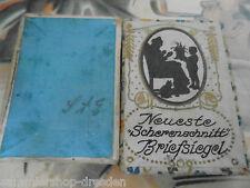 27330 schachtel für Briefsiegel Scherenschnitt leer Jugendstil 5,5x1,5x4cm
