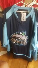 NWT Alaska Aces SZ 54 OT Blue Minor League Hockey Jersey Pro Fight Strap