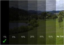 Autoglasfolie Unzerkratzbar 50cm x 3m Fenster 1% Tönungsfolie Schwarz Autofolie