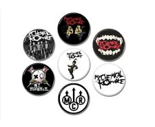 7 X My Chemical Romance band buttons (badges, pins, black parade, heavy metal)