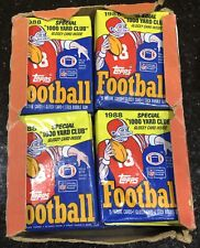 1988 TOPPS Football Wax Box 36 Packs - Possible Bo Jackson Rookie Card - No Top