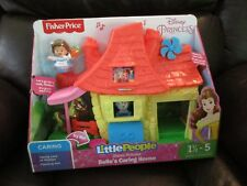 Fisher Price Little People Disney Princess Belle's Caring House Phillipe cottage