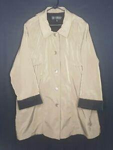 Vintage Misty Harbor Mens 2XL Trench Coat Wear In Good Health Overcoat Lined XXL