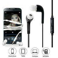 For iPhone Samsung Handsfree Wired Stereo Headphones Earphones Earbud with Mic