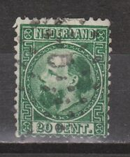 NVPH Netherlands Nederland 10 TOP CANCEL AMSTERDAM 5 Willem III 1867 3e emissie