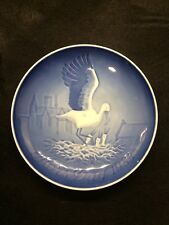 "Bing & Grondahl Mother's Day 1984 ""Mors Dag"" porcelain blue plate"
