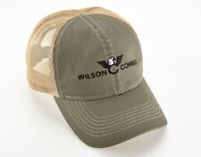 Wilson Combat Ball Cap Hat - Olive/Tan with Black Logo Mesh Back