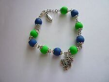 #1 8inches w/1 inch extension chain Silver Tone Bracelet Seattle Seahawks Were