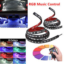 2x 60in RGB LED Pickup Truck Bed Light Strip Lighting Kit 8 Colors Music Control