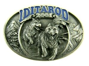 2001 Iditarod Belt Buckle Alaska Dog Sled Race Trail Committee Official