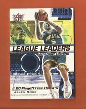 2001-02 ULTRA LEAGUE LEADERS JALEN ROSE GAME-WORN UNIFORM #d 032/450 PACERS