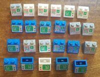 23x Lego Vintage Digital Computer Screens Printed Blocks Slope and Inverted