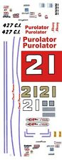 #21 Wood Brothers Purolator 1968-73 1/24th - 1/25th Scale Decals