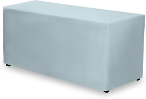 Gee Di Moda Fitted Tablecloth - 72 x 30 Inch - Baby Blue Fitted Rectangle Table