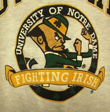NOTRE DAME University youth lrg crewneck Fighting Irish sweatshirt size 16-18