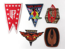 Worlds of Star Trek Patch Set of 5-Vintage- FREE S&H (STPAR-WORLDS-5)