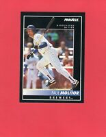1992 Pinnacle baseball #8  PAUL MOLITOR  Milwaukee Brewers Hall of Fame