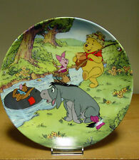 Bradford Exchange Plate - Going Fishing - Fun in 100 Acre Woods Collection