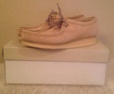 NIB Clarks WALLABEE Suede Core Casual Shoes Mens Size EU 41M  US 8 M Sand Sable