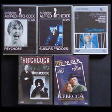 """lot de 5 DVD, films du réalisateur """" Alfred Hitchcock """" (films 1936 à 1978)"""