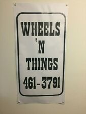 old school bmx  wheels & things BANNER 4ft X 2ft vdc hutch gt se racing