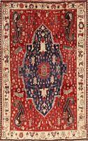 Antique Vegetable Dye Geometric 6x9 Kashkoli Oriental Area Rug Carpet