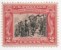 1929 US Scott #651 George Rogers Clark Vincennes MNH Nicely Centered