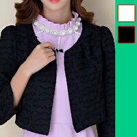Women Ladies Evening Party Top Dress Bolero Shrug AU Size 10 12 14 16 18 #8499