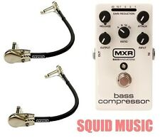 MXR Dunlop M87 Bass Compressor Bass Effects Pedal ( 2 MXR PATCH CABLES ) M-87