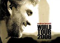 ANDREA BOCELLI 2006 AMORE WORLD TOUR CONCERT PROGRAM BOOK / BOOKLET / NMT 2 MINT
